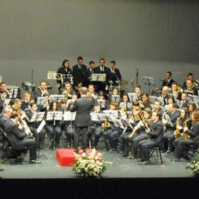 Dos compositores en el concierto de la banda de música Santa Cecilia de Pedroche