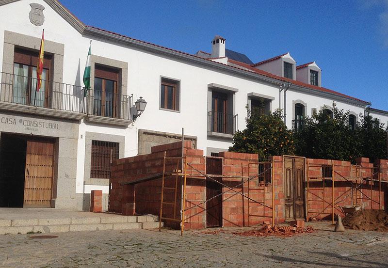 Preparativos para la representación de los Coloquios en Alcaracejos