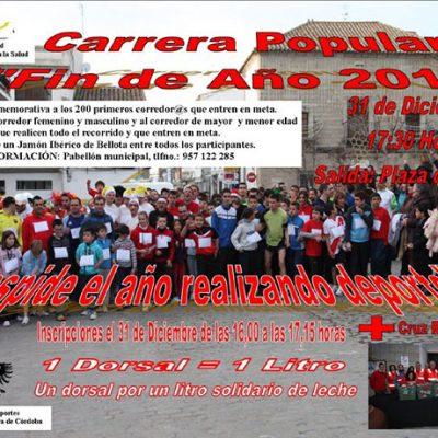 La XXIV Carrera Popular Fin de Año de Villanueva de Córdoba se convierte en una fiesta solidaria
