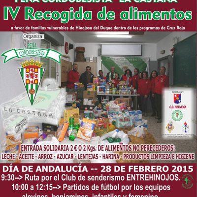 Actividades solidarias en Hinojosa del Duque en el Día de Andalucía