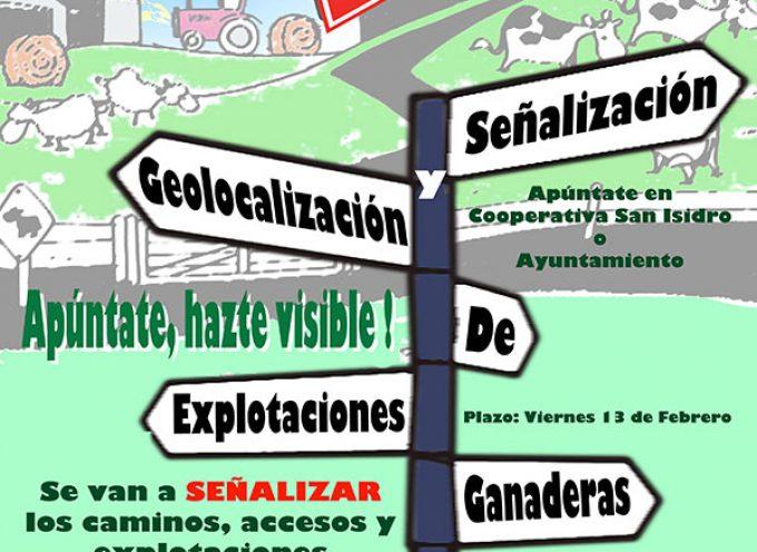 Señalización y geolocalización de explotaciones ganaderas en Dos Torres