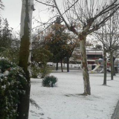 Nieva en Los Pedroches