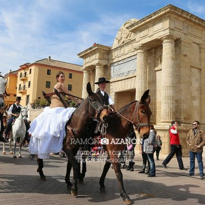 Promocionando los Piostros en Córdoba el Día de Andalucía