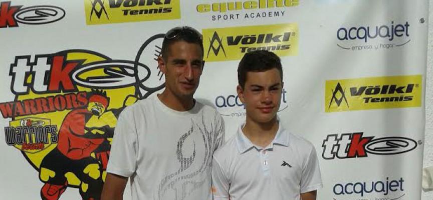 Blas Ruiz, del Club Tenis Pozoblanco, estuvo a un paso de la final del TTK de Sevilla