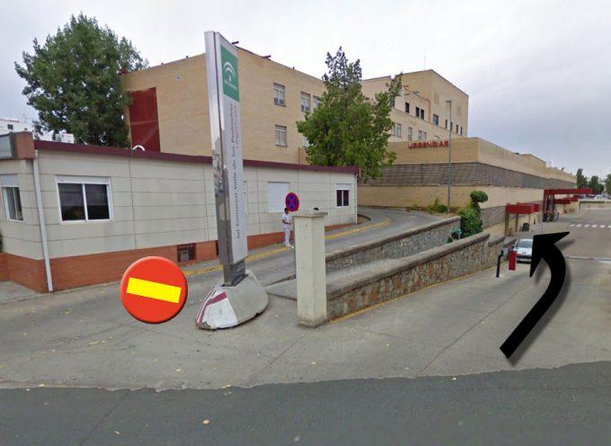 Obras en el acceso a Urgencias en el hospital Valle de los Pedroches