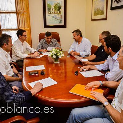 El Ayuntamiento de Pozoblanco se reúne con Hostepozo para hablar sobre las terrazas