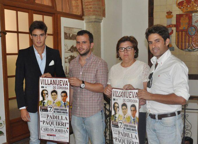 Padilla y Paquirri torearán la corrida mixta de Villanueva de Córdoba