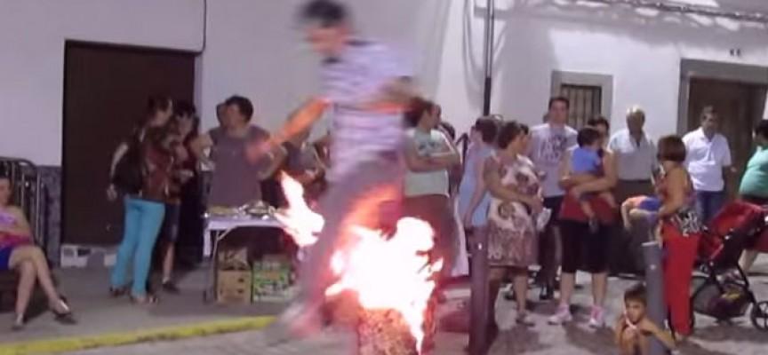 Quema del corcho en Pozoblanco