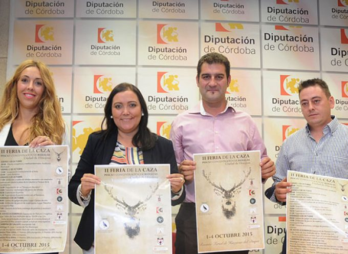 Presentación de la la Feria de la Caza, Pesca, y concentración de rehalas en Hinojosa del Duque