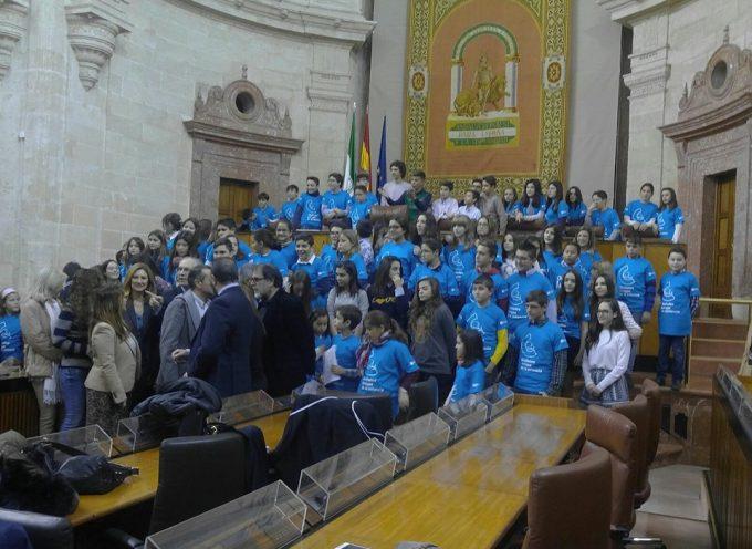 El Consejo Municipal de la Infancia de Pozoblanco ha visitado el Parlamento de Andalucía [vídeo]