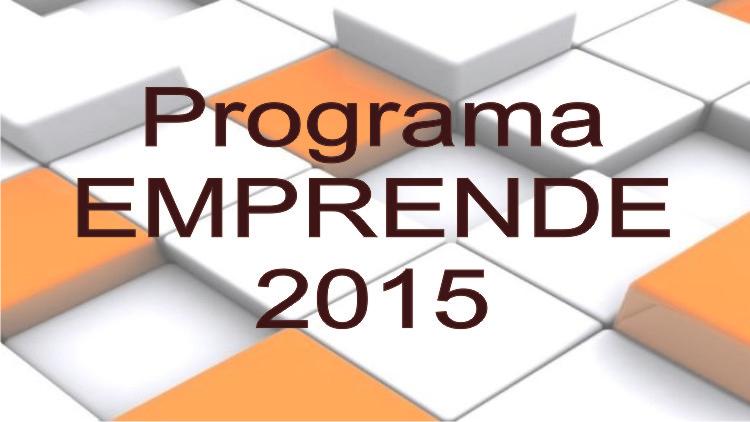 Programa Emprende 2015