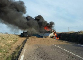 Accidente en la carretera de Pozoblanco a Villanueva de Córdoba