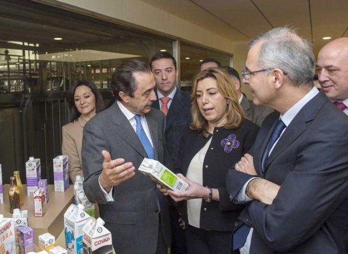 Susana Díaz habla sobre economía social, innovación e internacionalización en su visita a COVAP