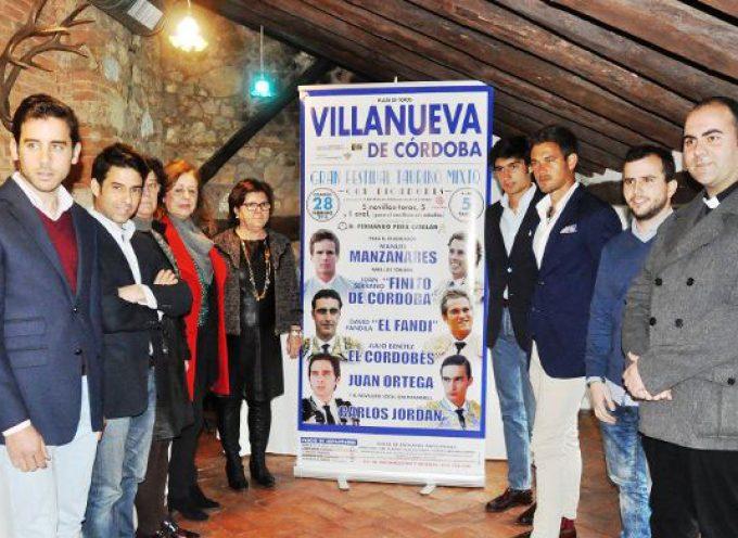 Festival taurino mixto a beneficio de Cáritas en Villanueva de Córdoba