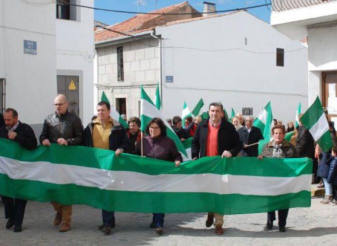 Manifestación en Villaralto con motivo de la celebración del Día de Andalucía [vídeo]