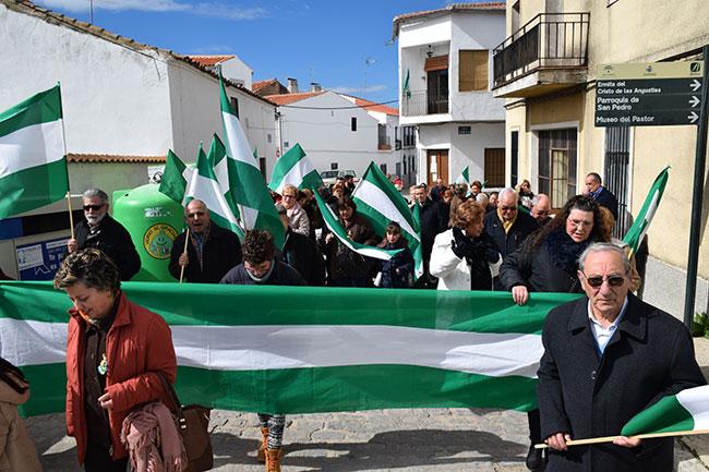 Manifestación en Villaralto con motivo de la celebración del Día de Andalucía
