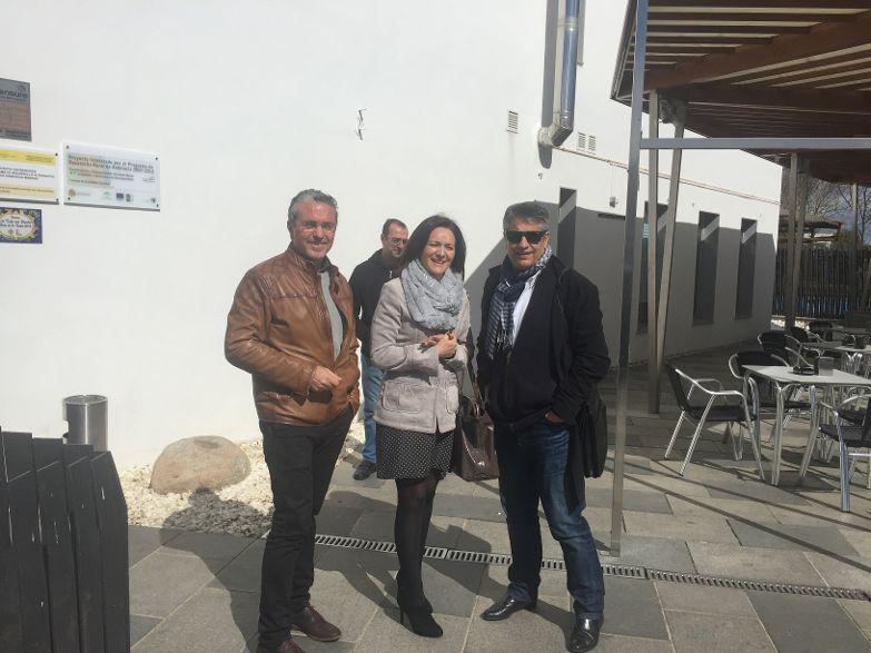 La delegada del Gobierno visita el Hotel Piedra y Luz