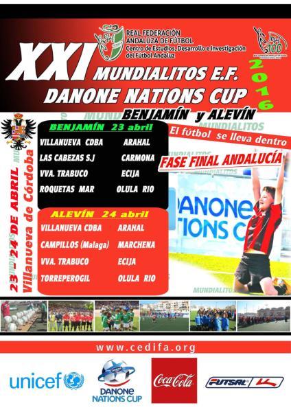 Fase Final Andalucía de la XXI edición de los Mundialitos Danone Nations Cup 2016