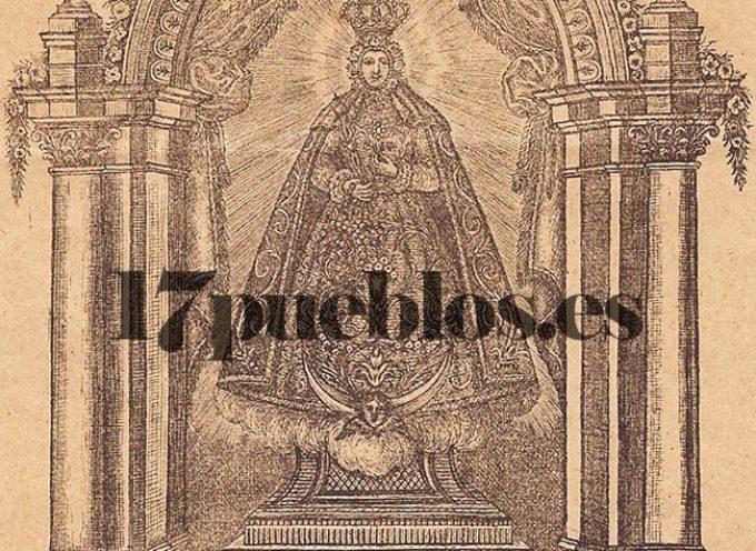 Un grabado de la Virgen de Piedras Santas de 1826