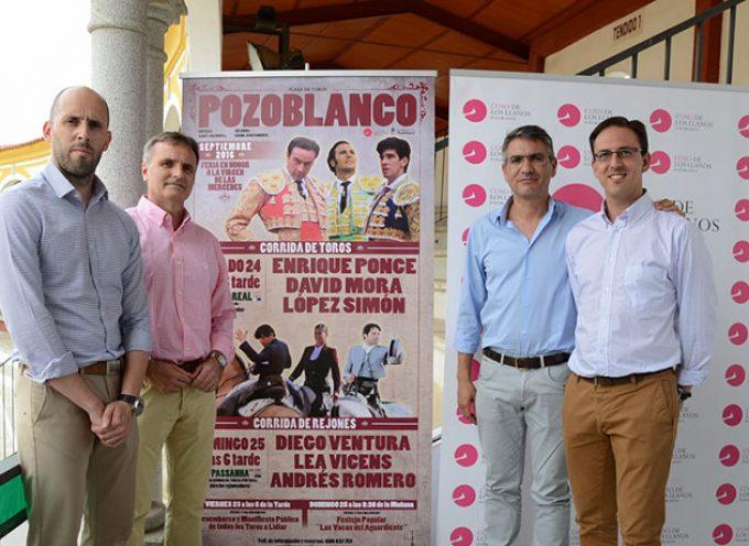Ponce y los triunfadores de Madrid, Mora y López Simón, en la Feria de las Mercedes de Pozoblanco