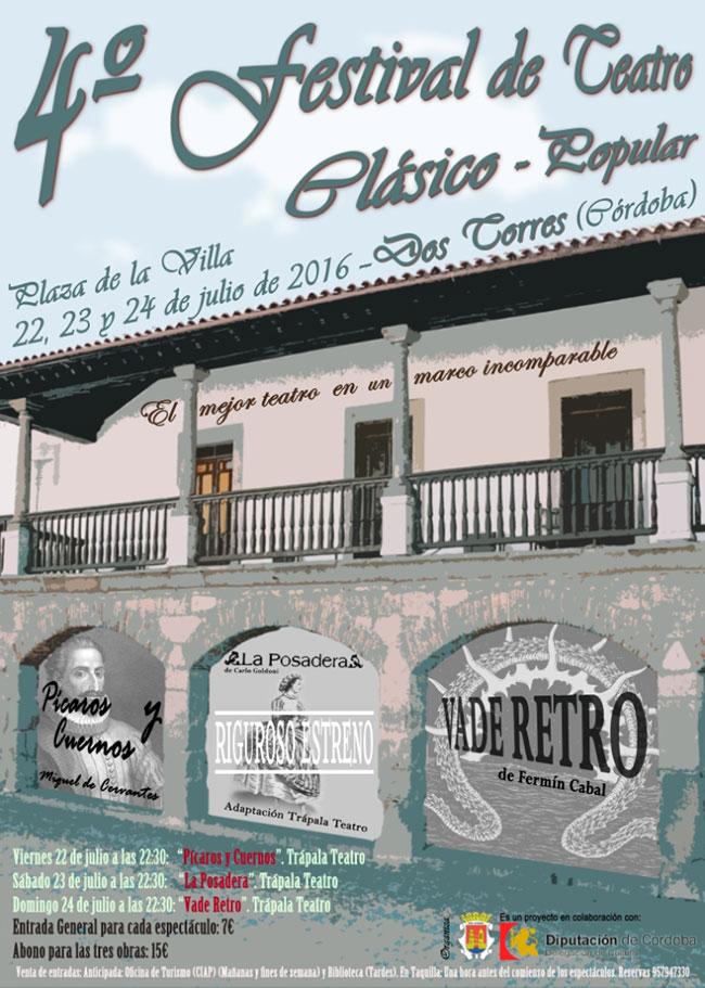 4º Festival de Teatro Clásico – Popular, en Dos Torres