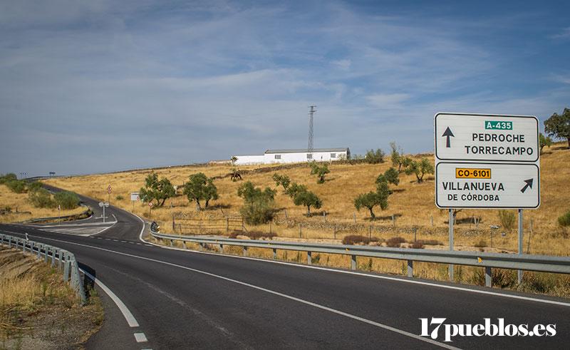 Carretera Villanueva de Córdoba - Pedroche