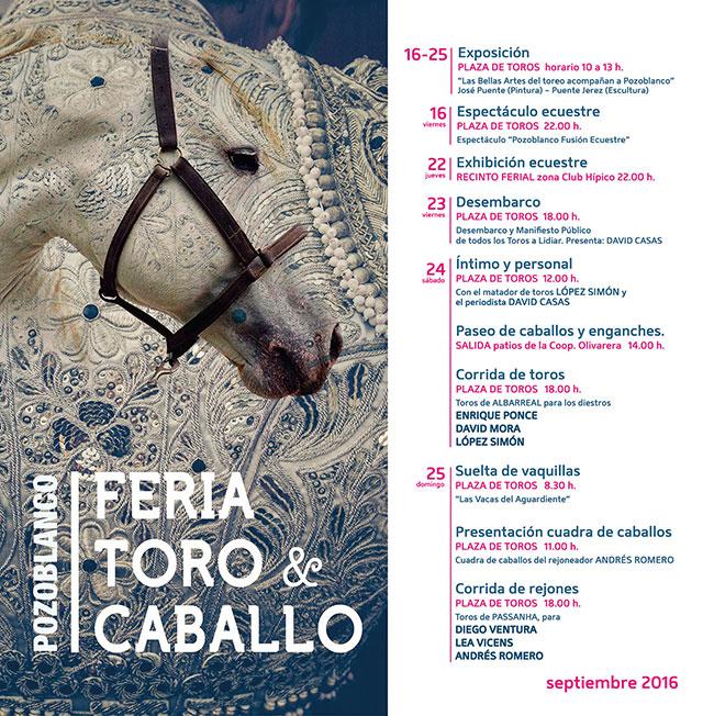 El caballo compartirá protagonismo con el toro en la Feria 2016 de Pozoblanco