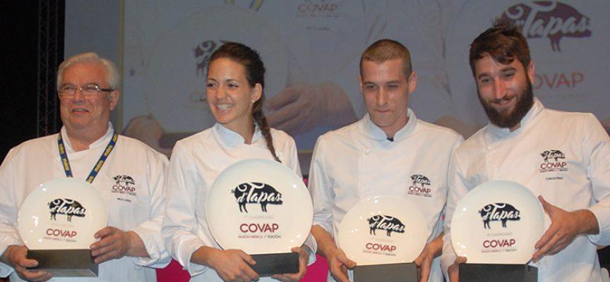 Sara Gómez, del restaurante El Mesón de Benidorm, ganadora del d'Tapas COVAP Pasión Ibérica