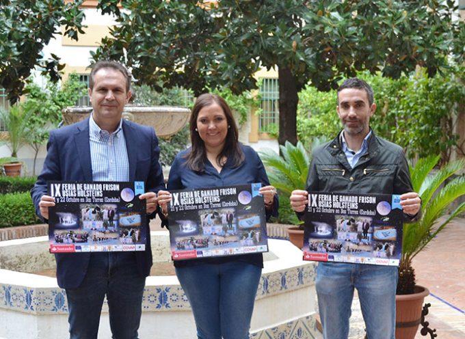 La IX Feria de Ganado Frisón de Dos Torres persigue difundir y promocionar esta raza