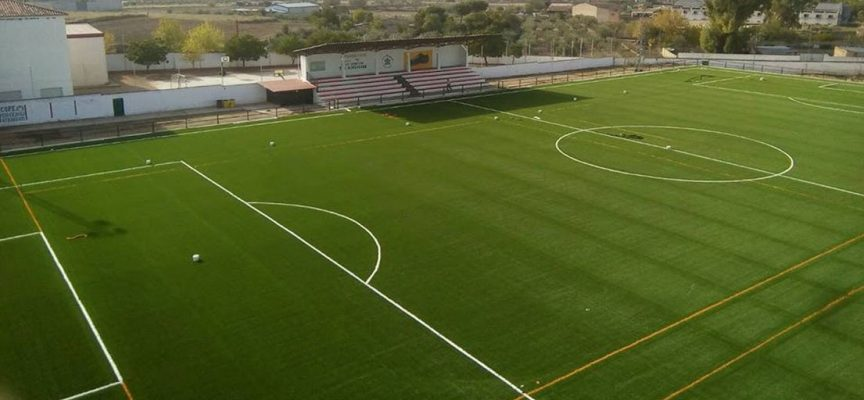 Inauguración del campo de fútbol de césped artificial de Belalcázar