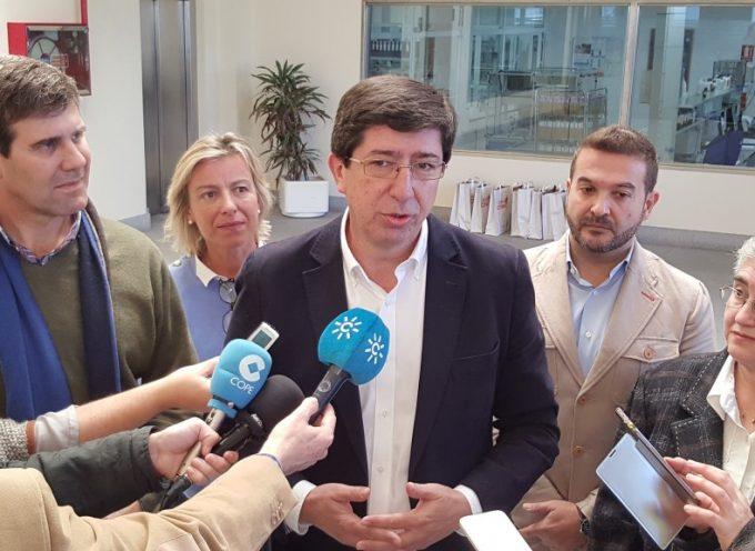 Juan Marín, líder de Ciudadanos en Andalucía, visita las instalaciones de COVAP
