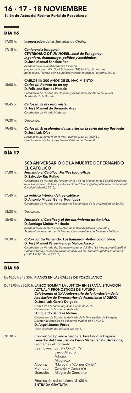 Jornadas de Otoño de la Fundación Ricardo Delgado Vizcaíno