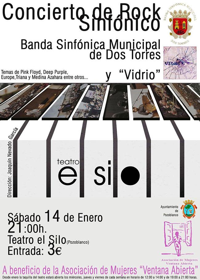 Concierto de Rock Sinfónico a cargo de la Banda Sinfónica Municipal de Dos Torres y Vidrio