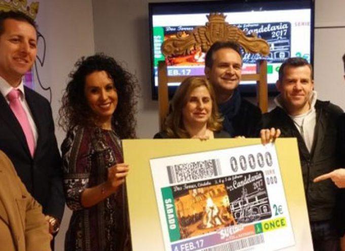 La ONCE promociona la Fiesta de la Candelaria de Dos Torres