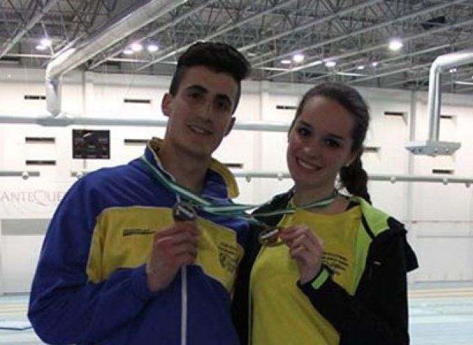 Doblete pozoalbense en el Campeonato de Andalucía Juvenil de Pista Cubierta de atletismo