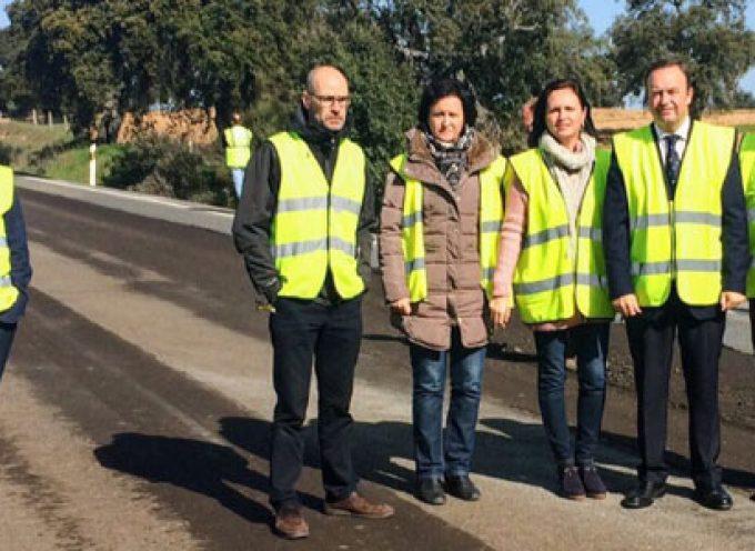 La Junta finalizará en primavera las obras de mejora de la seguridad vial en la A-422, en Los Pedroches