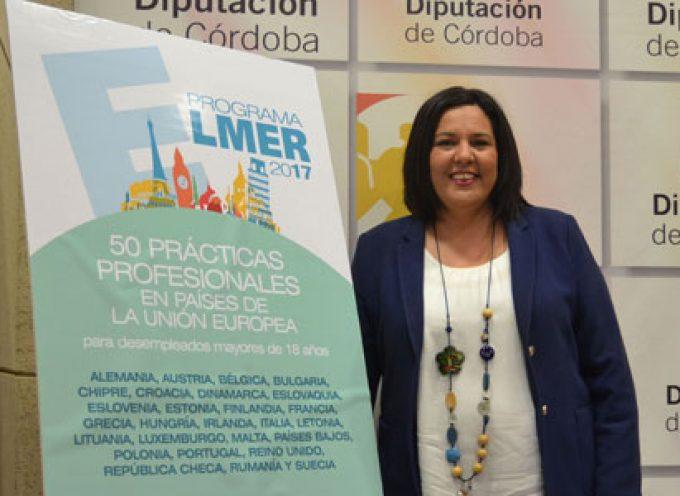 Diputación fomenta la realización de prácticas profesionales en la UE por parte de desempleados de la provincia