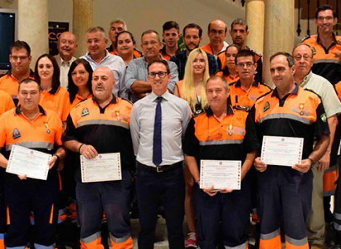 Reconocimiento al servicio de Protección Civil de Pozoblanco