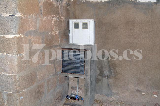 Cuadro eléctrico que ha sufrido el acto vandálico