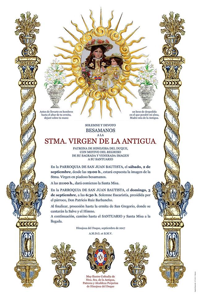 Besamanos a la Virgen de la Antigua y traslado de su imagen al Santuario