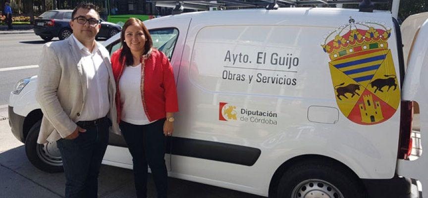 El Guijo presenta su nuevo vehículo de urbanismo en la Diputación de Córdoba