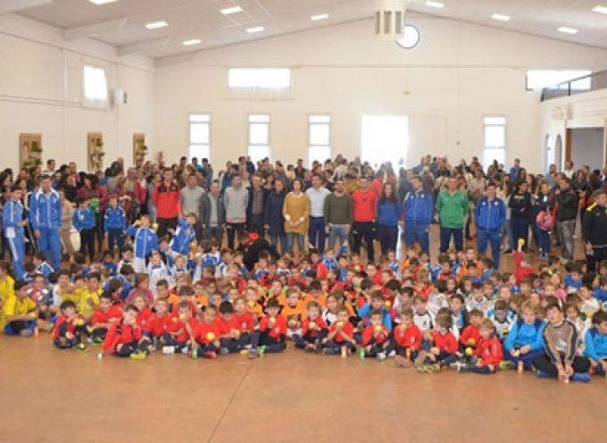 220 niños de Los Pedroches se benefician de las concentraciones de fútbol sala en la categoría Bebé