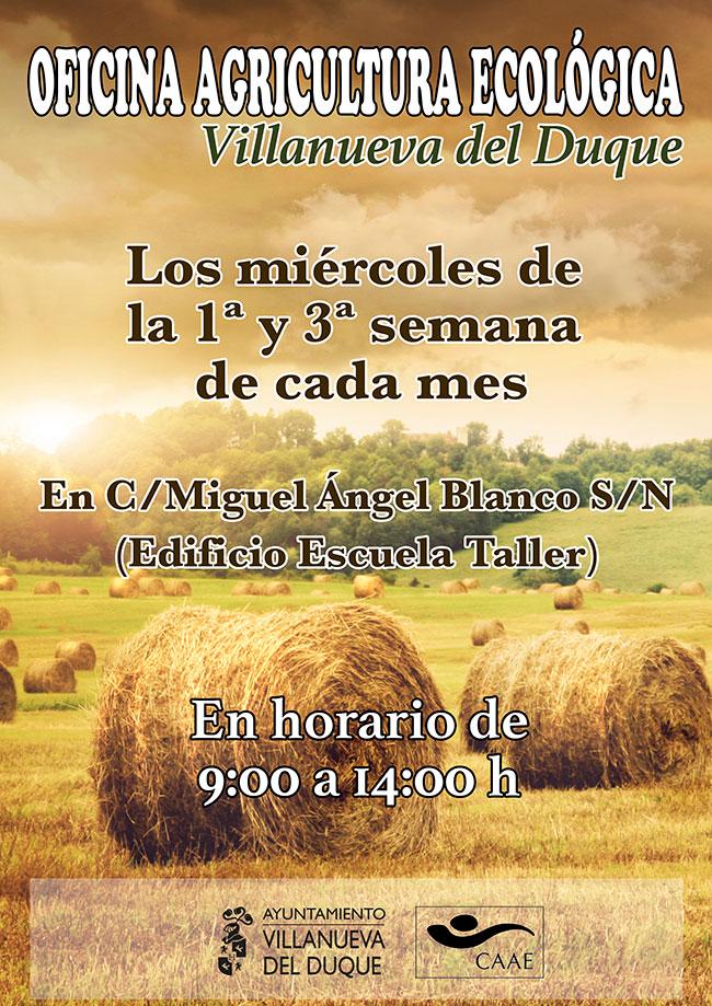 oficina de información sobre agricultura y certificación ecológica en Villanueva del Duque