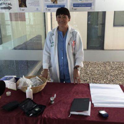 El Hospital Valle de los Pedroches conmemora el Día Mundial de la Diabetes con una mesa informativa