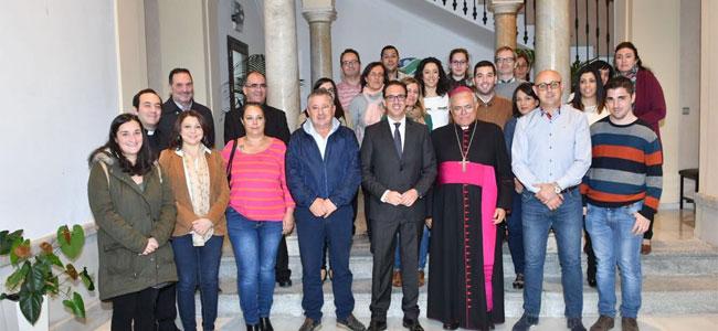 El Ayuntamiento de Pozoblanco recibe al Obispo de Córdoba en su visita pastoral