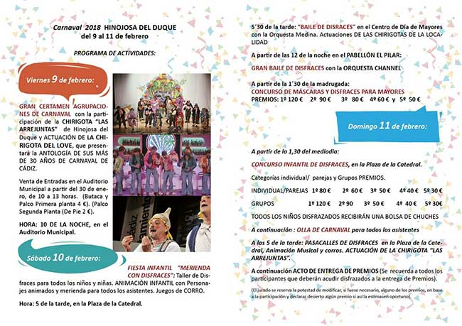 Presentada la programación de los Candelorios y del Carnaval en Hinojosa del Duque