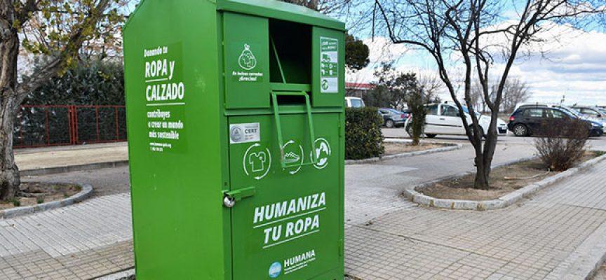 La recogida de textil usado para reciclar en Pozoblanco aumenta un 34% y se sitúa en 40 toneladas