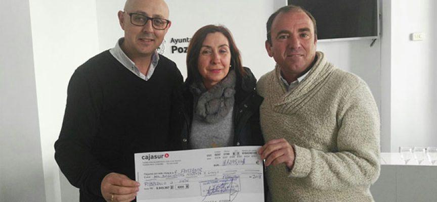 La Asociación Recuerda recibe 1.295 € por la recaudación de la San Silvestre 2017 de Pozoblanco
