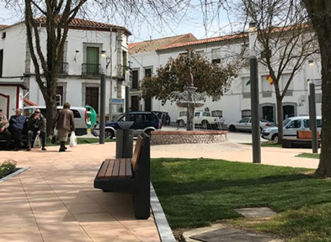 Concluye la reforma de la plaza de la Fuente Vieja de Villanueva de Córdoba