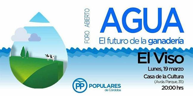 El PP organiza un foro abierto sobre el agua en El Viso